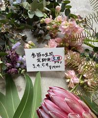 季節の生花便土日プラン 3.4.5月 送料込み
