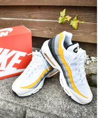 NIKE AIR MAX 95 グラデーションスニーカー WHITE, AMARILLO, GREY & BLACK
