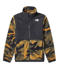 THE NORTH FACE DENALI フリースジャケット BURNT OLIVE & GREEN CAMO