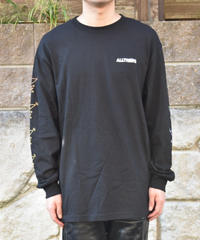 ALLTIMERS ACTION ロングスリーブ 長袖ロゴTシャツ BLACK