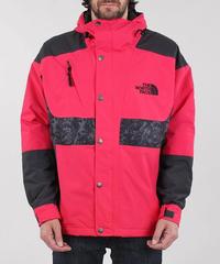 海外限定【 THE NORTH FACE 】'94 RAGE Waterproof Synthetic Insulated レオタード柄 フードナイロンジャケット ROSE RED