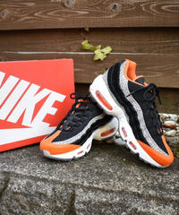 NIKE AIR MAX 95 WE - GREATEST HITS PACK サファリレザー ポニーヘア スニーカー BLACK, GRANITE & ORANGE