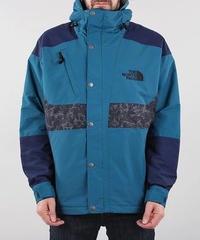 海外限定【 THE NORTH FACE 】'94 RAGE Waterproof Synthetic Insulated レオタード柄 フードナイロンジャケット BLUE CORAL
