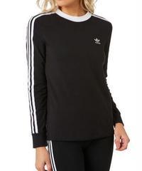 Adidas   3Stripes Long Sleeve 長袖Tシャツ BLACK
