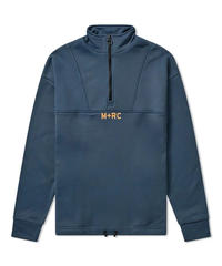 M+RC NOIR  QUARTER ZIP SWEAT ハーフジップ プルオーバー GREY
