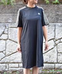 Adidas  Black Mesh Dress 3ライン ワンピースTシャツ