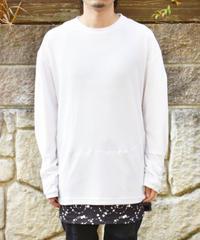 NIKELAB ACG ワッフル生地 ドットレイヤード 長袖Tシャツ WHITE×BLACK