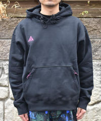 NIKE ACG  LOGO  胸刺繍ロゴフーディー プルオーバーパーカー BLACK