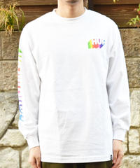 HUF Aura ロングスリーブ 長袖ロゴTシャツ White