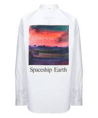 OAMC SPACESHIP EARTH アートロゴシャツ WHITE