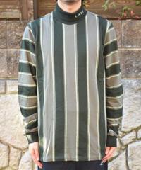 LAZY OAF  Lazy Stripe Roll Neck Shirt ストライプタートルネック