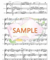 FVC011 川の流れのように/見岳章:管弦楽三重奏(フルート、バイオリン、チェロ)