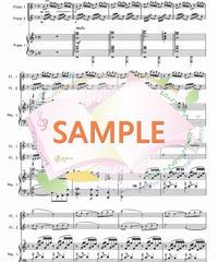 PF008 グノーのアヴェ・マリア~リズムアレンジ:フルート2本とピアノ