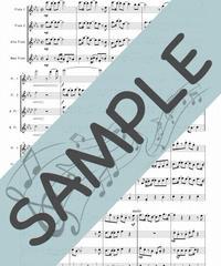SJ-FQG031-01 紅蓮華/草野華余子:フルート四重奏(2Flutes,Alto-Flute,Bass-Flute)