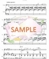 PF001 月の光~ジャズアレンジ /ドビュッシー:フルート2本とピアノ