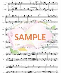 FD015 春色のメヌエット:原曲はバッハのメヌエット(フルート二重奏)