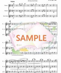FT003 春の声 /J.シュトラウス:フルート三重奏(2Flutes,Alto-Flute)