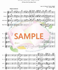 FQG004 ハレルヤ・コーラス / ヘンデル:フルート四重奏(2Flutes,Alto-Flute,Bass-Flute)