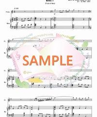 HF010 春色のメヌエット/バッハのメヌエット:ハープ(又はピアノ)とフルート