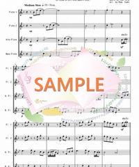 FQG020 卒業写真/荒井由実:フルート四重奏(2Flutes,Alto-Flute,Bass-Flute)