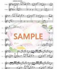 PG007 庭の千草/アイルランド民謡(無料楽譜):フルート2本