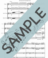 SJ-FQG012-01 君をのせて「天空の城ラピュタ」より/久石譲:フルート四重奏(2Flutes,Alto-Flute,Bass-Flute)