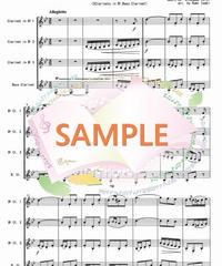 CQL001 乾杯の歌「椿姫」より / ヴェルディ:クラリネット四重奏(3Clarinets in Bb,Bass Clarinet)