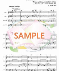 FQG005 カンツォーネ・メドレー:フルート四重奏(2Flutes,Alto-Flute,Bass-Flute)