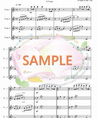 FQ013 誰も寝てはならぬ Nessun Dorma/プッチーニ:フルート四重奏(4 Flutes)
