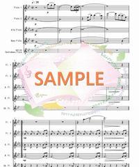 FQG025 夜桜お七/ 三木たかし:フルート四重奏(2Flutes,Alto-Flute,Bass-Flute/op.+Contrabass-flute)