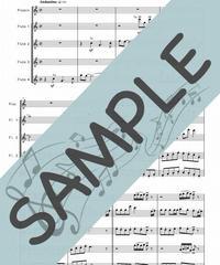 SJ-TFF005-01 おしえて「アルプスの少女ハイジ」より/渡辺岳夫:フルート九重奏(Piccolo,8Flutes)