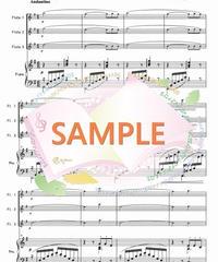 PF003 小組曲「小舟にて」/ドビュッシー:フルート3本とピアノ