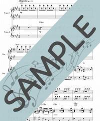 SP-PD002-03 ハイ・ホー「白雪姫」より/Frank Churchill:ピアノ連弾