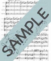 SP-FQG024-01 クリスマスキャロルメドレー:フルート四重奏(2Flutes,Alto-Flute,Bass-Flute)