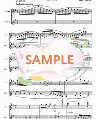 PG002 私のお父様「ジャンニ・キッキ」より(無料楽譜):フルート&ヴァイオリン