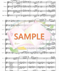 FQG021 あの日にかえりたい/荒井由実:フルート四重奏(2Flutes,Alto-Flute,Bass-Flute)