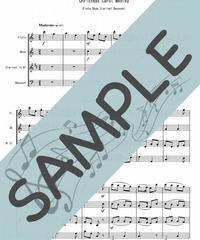 SP-WQ004-01 クリスマスキャロル・メドレー(全6曲)/讃美歌より:木管四重奏(フルート、オーボエ、クラリネット、ファゴット)