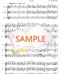 FT014 クリスマスキャロル・メドレー 1:フルート三重奏(3Flutes)