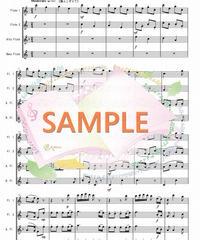FQG024 クリスマスキャロル・メドレー:フルート四重奏(2Flutes,Alto-Flute,Bass-Flute)