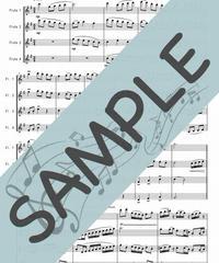 SP-FQ008-01 春色のメヌエット/原曲はバッハのメヌエット:フルート四重奏(4Flutes)