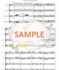 FQG012 君をのせて「天空の城ラピュタ」より/久石譲:フルート四重奏(2Flutes,Alto-Flute,Bass-Flute)