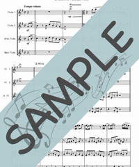 SJ-FQG014-01 ひこうき雲/荒井由実:フルート四重奏(2Flutes,Alto-Flute,Bass-Flute)