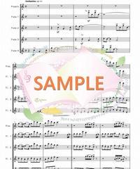TFF005 おしえて「アルプスの少女ハイジ」より/渡辺岳夫:フルート九重奏(Piccolo,8Flutes)