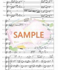 FQ015 ルパン三世のテーマ'78/大野雄二 :フルート四重奏(4Flutes)