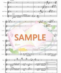 FQG018 恋人がサンタクース/松任谷由実:フルート四重奏(2Flutes,Alto-Flute,Bass-Flute)