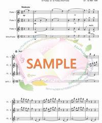 FT006 Je Te Veux /E.サティ:フルート三重奏(3Flutes or 2Flutes,Alto-Flute)