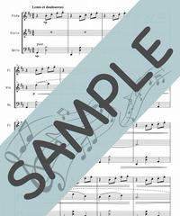 SP-FVC003-01 ジムノペディ/サティ:管弦楽三重奏(フルート、ヴァイオリン、チェロ)