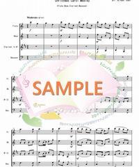 WER004 クリスマスキャロル・メドレー(全6曲)/讃美歌より:木管四重奏