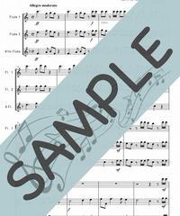 SP-FT004-01 ハレルヤ・コーラス /ヘンデル:フルート三重奏(2Flutes,Alto-Flute)