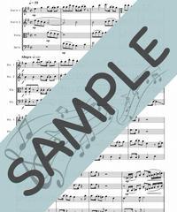 SJ-SQ006-01 残酷な天使のテーゼ/佐藤英敏:弦楽四重奏(String quartet)